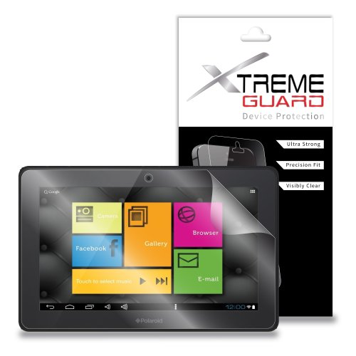 XtremeGuard Screen Protector for Polaroid PTAB1050 10.1' Tablet (Ultra Clear)