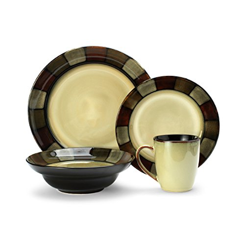 Pfaltzgraff Taos 16-Piece Stoneware Dinnerware Set, Service for 4