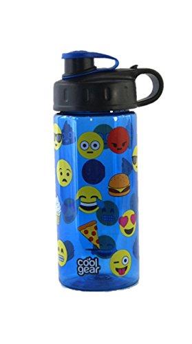 Cool Gear Plastic Water Bottle Emojis Pizza Poop Ice Cream BPA Free 16oz