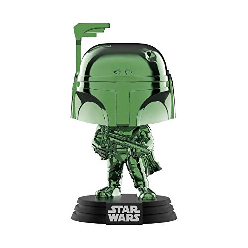 Funko 41901 Pop Disney: Star Wars - Boba Fett (Green Chrome) Summer Convention, Amazon Exclusive, Multicolor