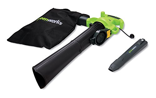 Greenworks 24072 12A 235MPH Variable Speed Corded Blower/Vac includes Metal Repeller