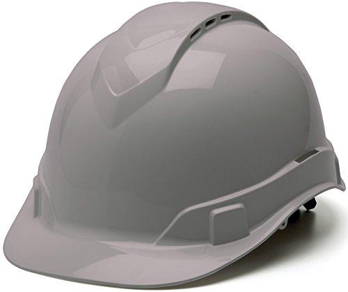 Pyramex Ridgeline Cap Style Hard Hat, Vented, 4-Point Ratchet Suspension, Gray