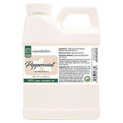 16 fl oz - Peppermint Essential Oil 100% Pure, Uncut - GreenHealth