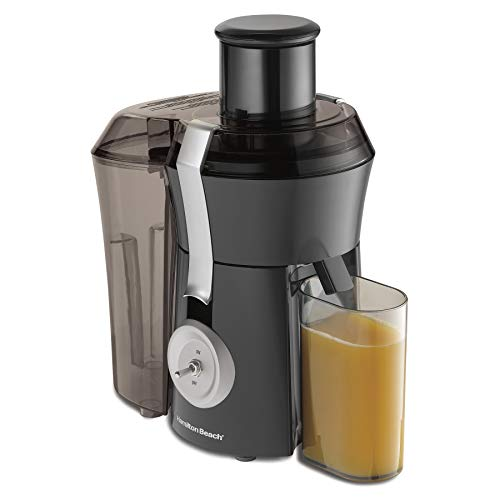 Hamilton Beach Pro Juicer Machine, Big Mouth Large 3' Feed Chute, Centrifugal, Easy to Clean, Powerful 1.1 HP Motor, Grey and Die-Cast Metal (67650A)