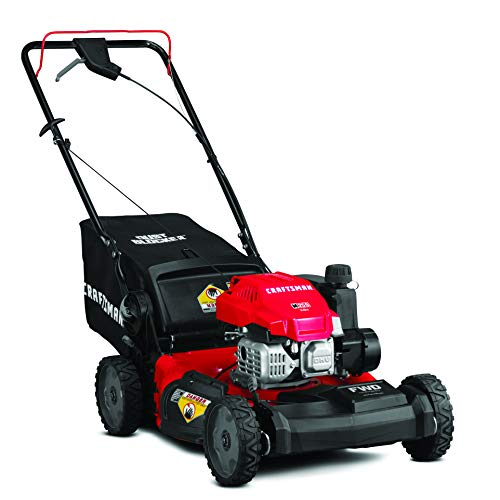Craftsman 12AVU2V2791 149cc Engine Front Wheel Drive Self Propelled Lawn Mower, Red and Black