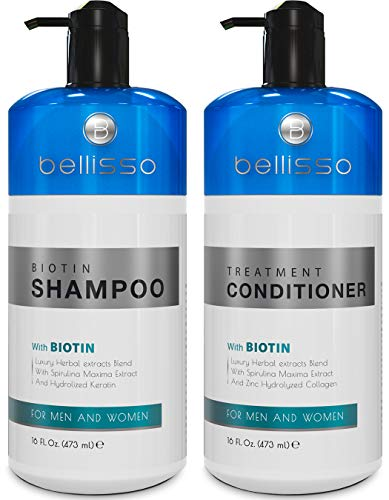 Biotin Shampoo and Conditioner for Hair Growth | Thickening Anti Hair Loss Shampoo Treatment | Regrowth Shampoo & Conditioner for Dry Normal Oily & Color Treated Hair