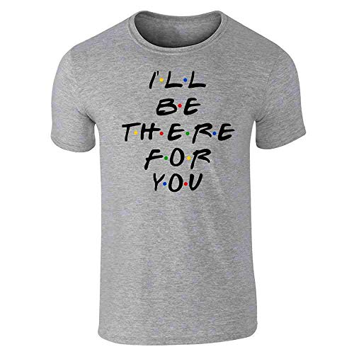 Pop Threads I'll Be There for You Retro 90s Song Quote Gray L Graphic Tee T-Shirt for Men