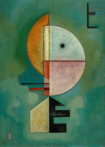 Wall Art Tin Sign Christmas Funny Gifts for Men 12'X16'Kandinsky 'Upward (Empor)' 1929,Gift Decor Novelty Metal Sign for Home Decor Tin Sign Plate Plaque for Man Women Cave