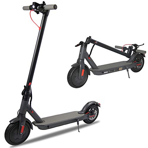Electric Scooter for Adults, 8.5' Air Tires 350W Motor Speed 15.8 MPH, Up to 16 Miles, Long Range Battery, Portable Folding Electric Scooters for Adults(Black)