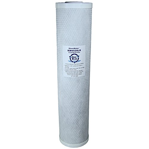 Lead Removal Water Filter, KleenWater KW4520LR Carbon Block Replacement Water Filter Cartridge, 4.5 x 20 Inches