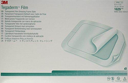 3M Tegaderm Transparent Film Dressing - 8' x 12' - - Box of 10