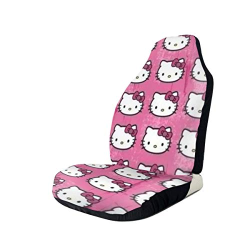 Heavenly Battle Pink Cute Hello Kitty Car Seat Covers Accessories Set Super Soft Vehicle Seat Decoration Protector Cover Bag 2 Pieces Set