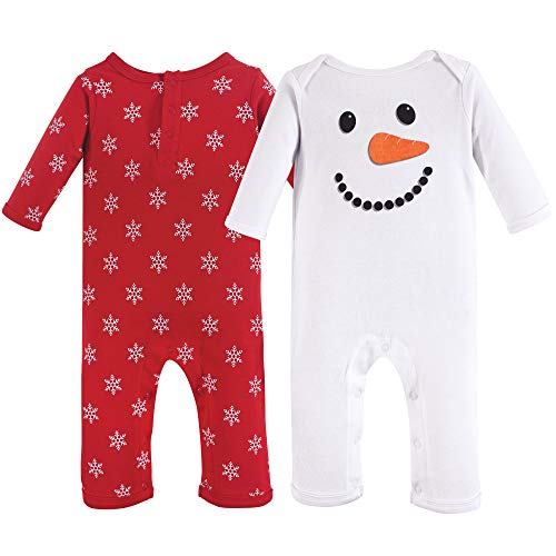 Hudson Baby Baby Cotton Coveralls, Snowman, 12-18 Months