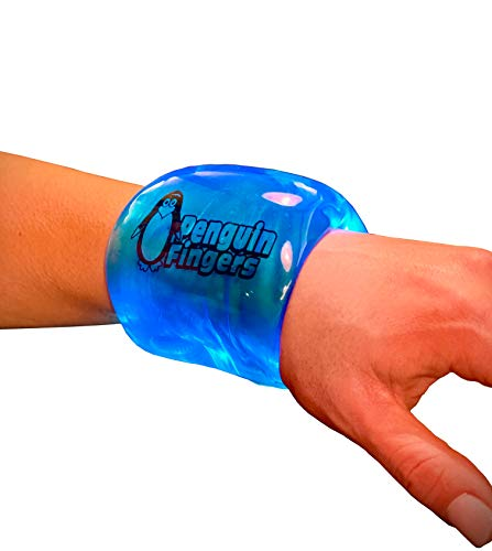 Penguin Fingers Wrist Cryotherapy Compression Pack - Cold Therapy Wrist Support Sleeve - Reusable Ice Gel Wrap Brace - Pain Relief from Carpal Tunnel, Sprain, Sore Joint - Small to Medium Wrists
