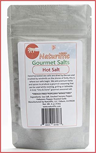 Naturiffic Hot Salt Gourmet Seasoned Salt, Keto Friendly, Finishing Salt, Spicy Sea Salt