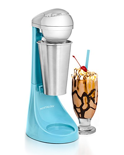 Nostalgia Electric MLKS100BL Two-Speed Milkshake Maker, 16-Ounce, Blue