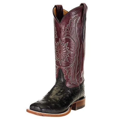 Tony Lama Women's Farron Western Boot Wide Square Toe Black 10 M