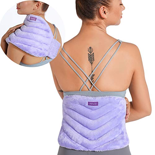 REVIX Microwave Heating Pad for Back Pain and Cramps Relief with Moist Heat, Extra Large Microwavable Heated Wrap for Lumbar, Waist, Stomach, Shoulder and Neck Hot or Cold Pack, Reusable, Portable