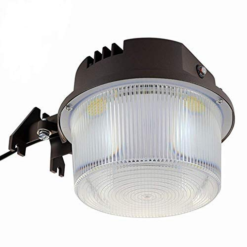 LED Security Area Light 40 Watts - Barn Light Dusk to Dawn with Photocell - Ultra Bright Yard Light 5500 Lumens, 5000K, 400W Incandescent or 150W HID Light Equal, 5-Year Warranty