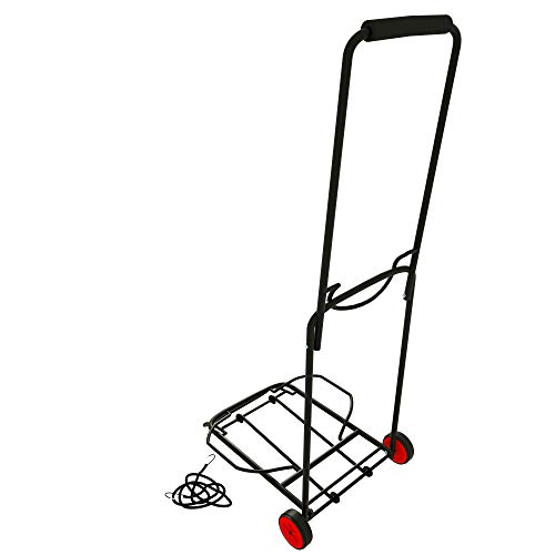 ISOP Shopping Cart Dolly 2 Wheels | Folding Lightweight Hand Truck | Heavy-Duty Utility Trolley | Portable Foldable | Easy-to-Store - 2 Wheels