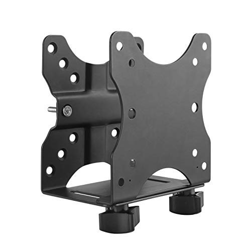 Ergotech Freedom Thin Client Mount VESA Plate, Perfect to mount a Mini PC or Computer, supports CPU's 0.6' - 2.7' wide, 11 lbs. Weight Capacity, Black