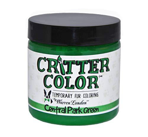 Warren London - Critter Color - Temporary Pet Fur Coloring - Central Park Green - 4 Oz Jar