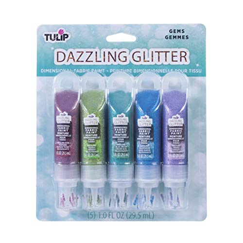 Tulip Dazzling Glitter Gems Dimensional, Permanent, Ideal for Crafts, Parties, School Projects Fabric Paint