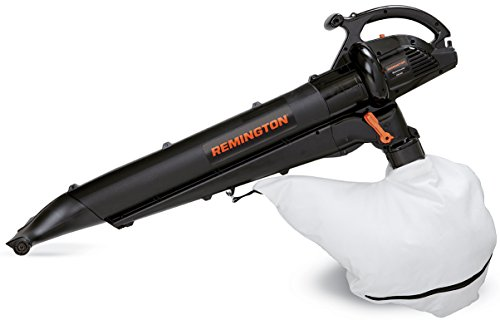 Remington RM1300 Mulchinator 3-in-1 12 Amp Electric Blower/Mulcher/Vacuum-Lightweight 2 Speed-10:1 Debris Reduction-Attachable Rolling Nozzle-2 Stroke