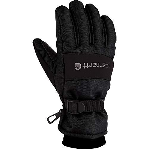 Carhartt Men's WP Waterproof Insulated Glove, Black, Medium