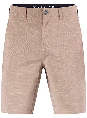 Mens Hybrid Golf Shorts Stretch Quick Dry Swim Trunks Boardshorts Khaki - 33