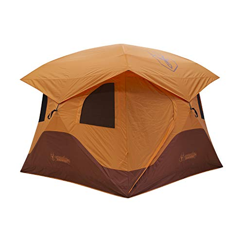 Gazelle T4 Overland Edition GT401SS Pop-Up Portable Camping Hub Tent, Easy Instant Set up in 90 Seconds, Sunset/Sedona Orange, 4-Person, Family, Overlanding