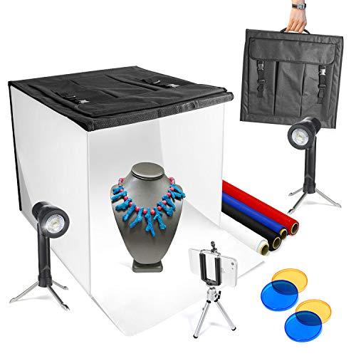 LimoStudio 16' x 16' Photography Studio LED Lighting Photo Light Box Kit, Portable Photo Shooting Tent, AGG349