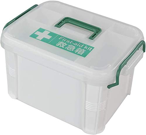 Anbers 2 Layers Plastic First Aid Storage Box Container Bin, 1 Pack