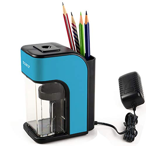 TGHCP Pencil Sharpener, 3-5s Fast Sharpen Electric Pencil Sharpener Heavy-Duty with Pencil Storage Holder for Classroom, Office, Home