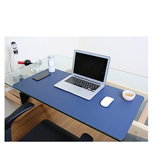 Desk Pad Blotter Mats Table Protector Mat on Top of Writing Desks Office Laptop Computer Desktop Décor Accessory Cover Under Keyboard Mousepad for Men Girl Women Kids PU Leather Navy Blue 17 x 36 Inch