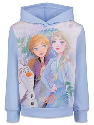 Disney Frozen Elsa Anna Olaf Toddler Girls Fleece Hoodie 4T