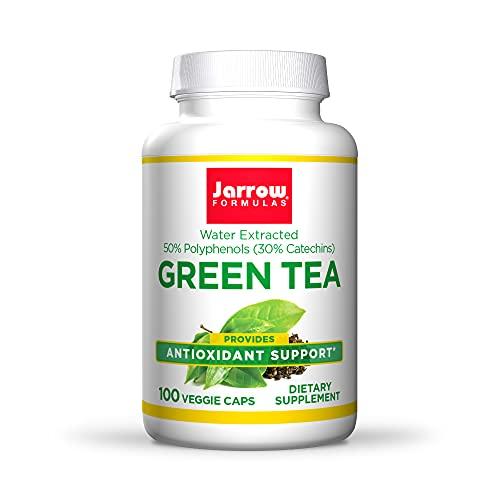 Jarrow Formulas Green Tea 500 mg - 100 Veggie Caps - Antioxidant Support - 50% Polyphenols - Cardiovascular & Immune Health - 100 Servings