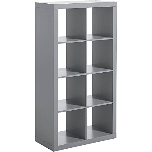 Better Homes and Gardens 8-cube Organizer Creates Multiple Storage Solutions Horizontal or Vertical Display (Gray)