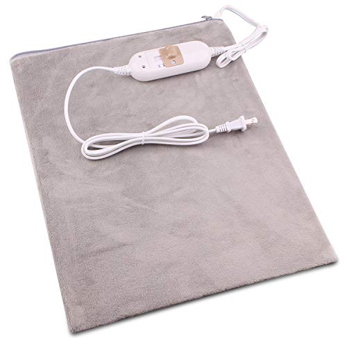 Heating Pads for Back Pain - Electric Heating Pad Neck and Shoulder Pain Relief Standard Size 12 x 15 Inch Grey
