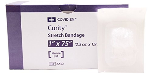Curity - 21961 Sterile Gauze Stretch Bandages 1' x 75', Pack of 12
