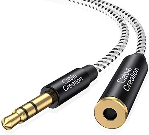3.5mm Headphone Extension Cable, CableCreation 3.5mm Male to Female Stereo Audio Cable for Phones, Headphones, Speakers, Tablets, PCs, MP3 Players and More, (10ft/3m)