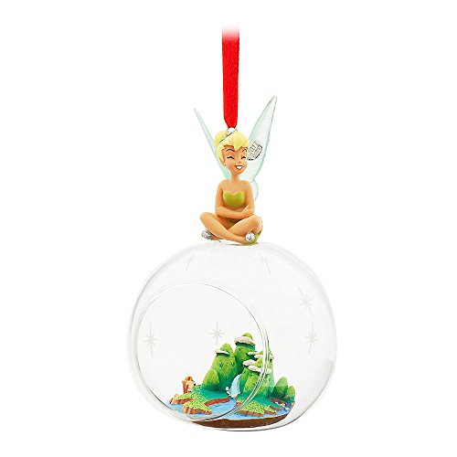 Disney Tinker Bell Glass Globe Sketchbook Ornament