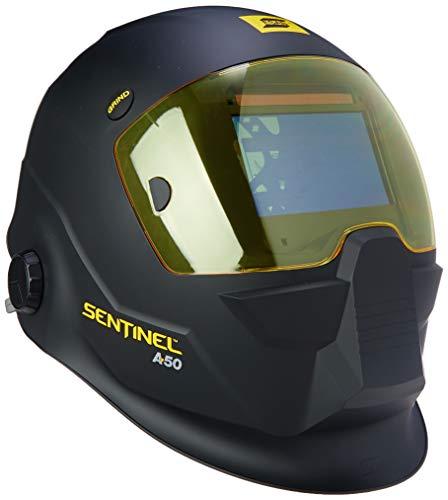 ESAB 0700000800 Sentinel A50 Welding Helmet, Black, 3.93 x 2.36 in. (100 x 60 mm) Viewing Area.