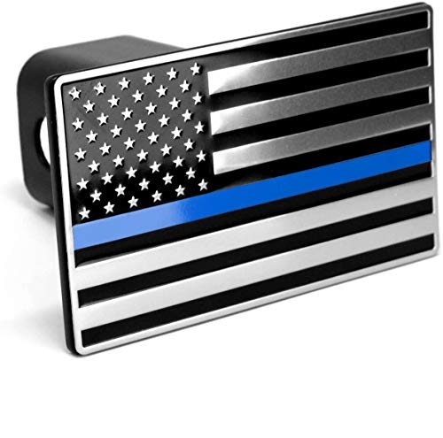 USA US American Flag Emblem Metal Trailer Hitch Cover 3d Hitch Cover Fits 2' Receivers (blue)