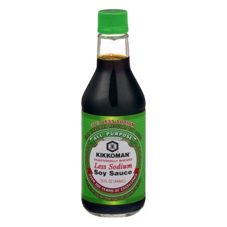 Kikkoman Less Sodium Soy Sauce, 15.0 FL OZ - 2 bottles