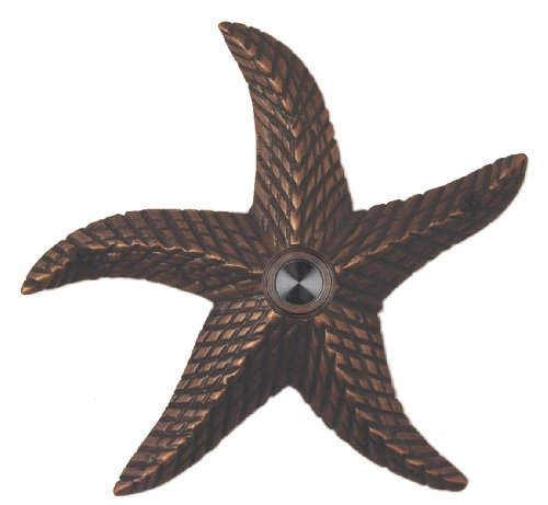 Waterwood Brass Starfish Doorbell in Oil Rubbed Bronze