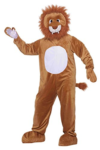 Forum Novelties Men's Leo The Lion Plush Mascot Costume, Multi, Standard