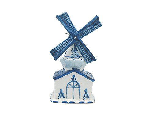 Essence of Europe Gifts E.H.G Blue and White Ceramic Windmill House (5.75')
