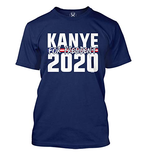 Haase Unlimited Kanye for President 2020 - Election Hip Hop Men's T-Shirt (Navy, X-Large)