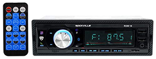 Rockville RDM18 in-Dash Car Digital Media Bluetooth AM/FM/MP3 USB/SD Receiver
